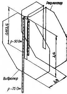 Двухполосная антенна ДМВ