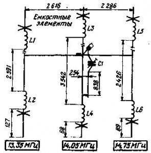 Малогабаритная трехэлементная антенна