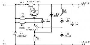Стабилизатор напряжения з защитой от перегрузок 13.8В 10А