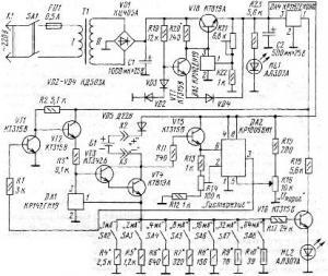 Зарядное устройство с дискретной установкой зарядного тока