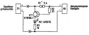 Индикотор тока заряда