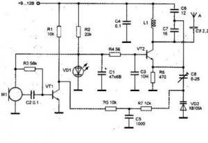 Радиопередатчик с ЧМ в УКВ диапазоне частот 61 - 73 МГц