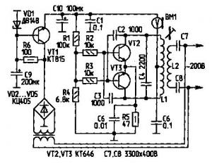 Переговорное устройство по сети 220 В