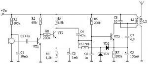 Управляемый радиомикрофон на 120...140 мГц