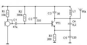 Экономичный микропередатчик на 92-96 МГц