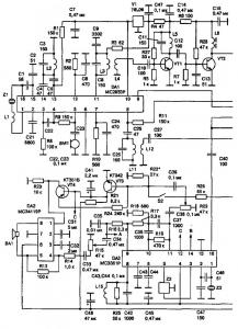 Радиостанция с ЧМ на 27 МГц на микросхемах
