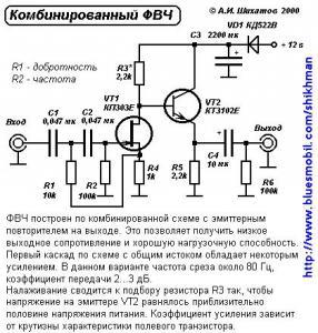 Комбинированный фильтр ФВЧ