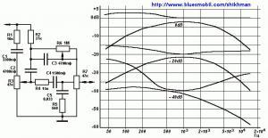 Тонкомпенсированный регулятор громкости, совмещенный с регуляторами тембра