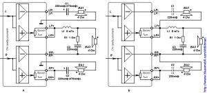 Смешанное подключение акустики к двухканальному усилителю и фейдером на выходе