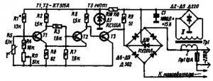 Терморегулятор на тиристоре