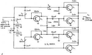 Умножитель частоты на фазовращателях