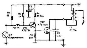 Транзисторный коммутатор зажигания