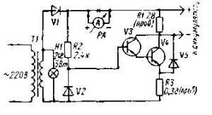 Схема десульфатирующего зарядного устройства (несложная схема - 2 транзистора)
