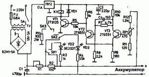 Устройство для зарядки автомобильных аккумуляторов (автомат, режим хранения)