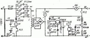 Устройство для зарядки аккумуляторных батарей (защита от КЗ, автоматическое отключение)