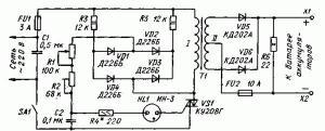 Зарядное устройство для стартерных батарей аккумуляторов