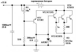 схемы простое зарядное устройство для аккумуляторов
