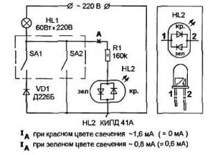 Индикатор мягкого включения лампы