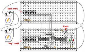 Простой электронный замок с набором кодовой комбинации