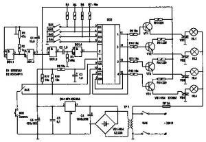 Автомат световых эффектов с четырьмя режимами работы