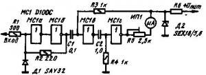 НЧ частотомер на интегральных схемах