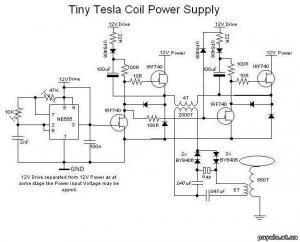 Миниатюрная катушка Тесла