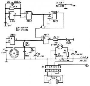 Схема простого металлоискателя повышенной чувствительностью