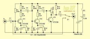 Примочка Fuzz для электрогитары