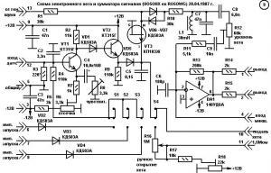 Модуль электронного хета и сумматора сигналов барабанов