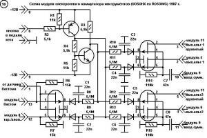 Модуль электронной коммутации инструментов