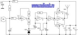 Радиожучёк на микросхеме CD4069