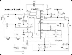 Радиожучёк на микросхеме MC2833