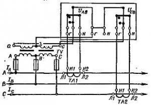 Как включить трехфазный счетчик активной электрической энергии в высоковольтную сеть