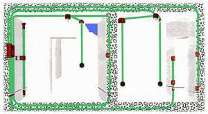 Монтаж электропроводки в помещениях